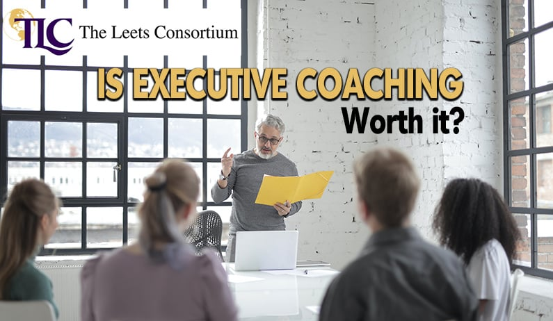 executives being coached corporate setting